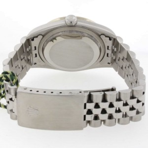 Rolex Datejust Silver Dial 36MM Automatic Stainless Steel Watch w/Diamond Bezel 16234