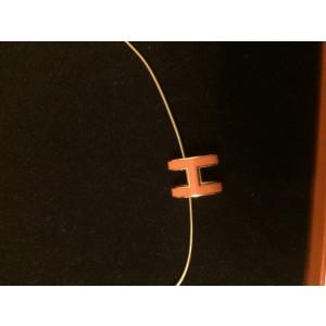 Hermes Pop H Orange & Gold Plated Necklace
