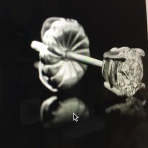 Round Brilliant Cut Diamond Earrings in White Gold