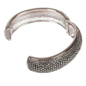 Judith Leiber Rhinestone Hinged Bangle