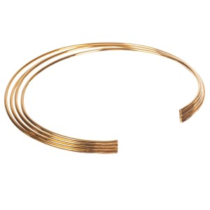 Philippe Audibert Goldtone Quadruple Strand Egyptian Choker