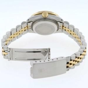 Rolex Datejust Ladies 2-Tone 18K Gold/SS 26mm Watch with Pink MOP Dial & Diamond Bezel