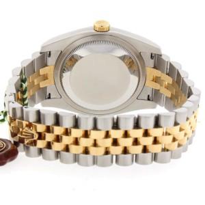 Rolex Datejust Original Black Jubilee Diamond Dial 2-Tone Yellow Gold/Steel 36MM Automatic Mens Watch 116233