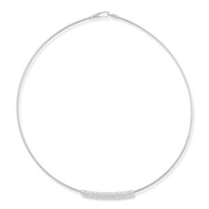 "I.Reiss Super Flex Semi-Hollow 1.7mm Wire ""ID"" Necklace"