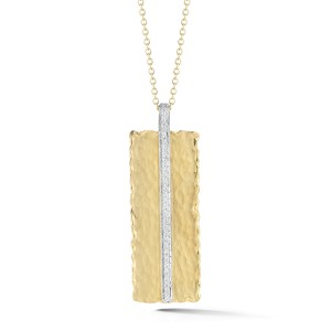 I.Reiss Matte And Hammer-Finish Rectangle-shaped Pendant