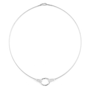 I.Reiss Polish-finished Open Oval Necklace