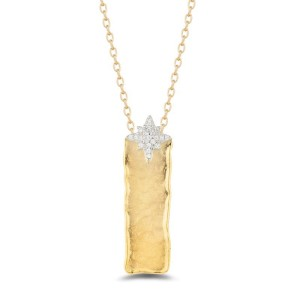 I. Reiss IR3622Y 14k Yellow Gold diamonds0.13 H-SI Diamonds Necklace