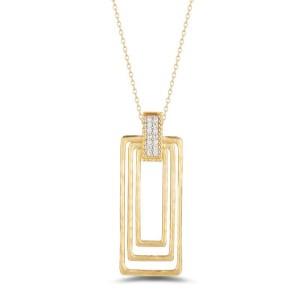 I. Reiss IR3626Y 14k Yellow Gold diamonds0.08 H-SI Diamonds Necklace