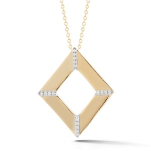 I.Reiss Polish-finished Open Diamond Pendant