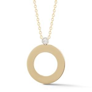 I.Reiss Polish-finished Open Circle Pendant