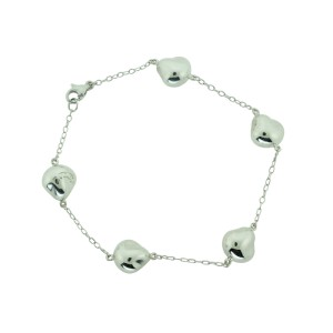 Tiffany Co Silver Peretti Nugget Bean Bracelet