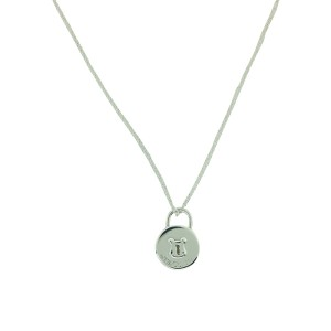 Tiffany Locks Vintage Round Lock Pendant Necklace