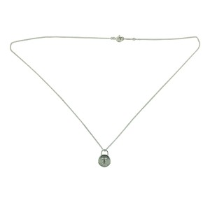 Tiffany Locks Vintage Round Lock Pendant Necklace