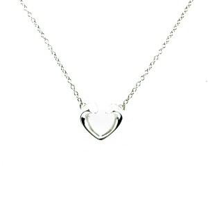 Tiffany & Co. Paloma's Tenderness Open Heart Pendant Necklace