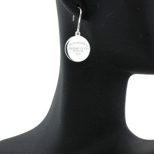 "Tiffany & Co. ""Please Return To Tiffany"" Round Tag Earrings"