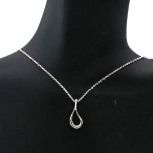 Tiffany & Co. Open Tear Drop Pendant Necklace