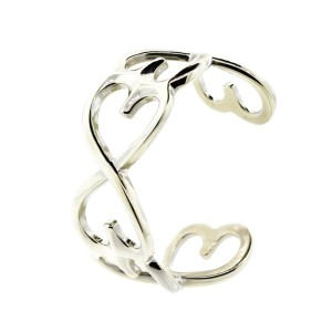 Tiffany & Co.  Double Loving Heart Cuff Bangle Bracelet