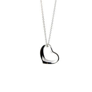 Tiffany & Co. Peretti Open Heart Pendant Small Necklace