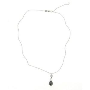 Roberto Coin Diamond 18K White Gold Briolette Pendant Necklace