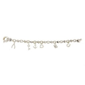 Roberto Coin Diamond 18K White gold Charm Bracelet