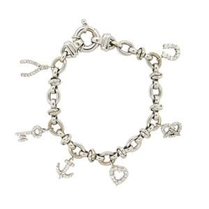7cffe5cf12fc5 Roberto Coin Diamond 18K White gold Charm Bracelet