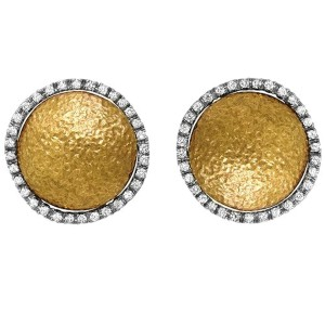 Roberto Coin Diamond 18K Gold Earrings