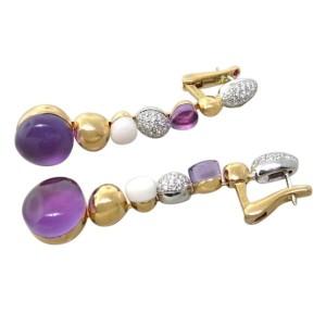 Roberto Coin Diamond 18K Gold Long Drop Earrings