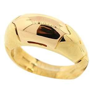 Bulgari 18k Yellow Gold Rare Rose Wedding Heavy Band Ring
