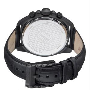 Just Cavalli Men's Sport Black Dial Calfskin Leather Watch
