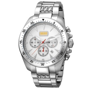 Just Cavalli Men's Sport White Dial Stainless Steel Watch