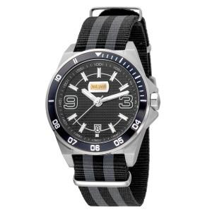 Just Cavalli Men's Sport Black Dial .Nylon  Watch