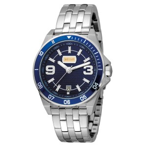 Just Cavalli Men's Sport Blue Dial Stainless Steel Watch