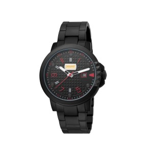 Just Cavalli Men's Rock Black Dial Stainless Steel Watch