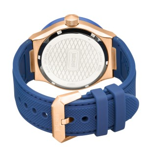 Just Cavalli Men's Rock Blue Dial Rubber Watch