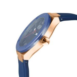 Just Cavalli Men's Rock Blue Dial Rubber Watch