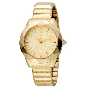 Just Cavalli Women's Rock Sangallo Gold Dial Stainless Steel Watch