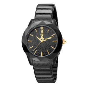 Just Cavalli Women's Rock Sangallo Black Dial Stainless Steel Watch