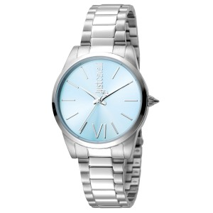 Just Cavalli Women's Relaxed Blue Dial Stainless Steel Watch