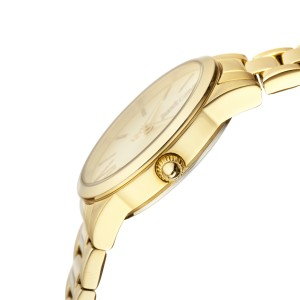 Just Cavalli Women's Relaxed Velvet Gold Dial Stainless Steel Watch