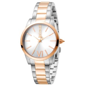 Just Cavalli Women's Relaxed Velvet Silver Dial Stainless Steel Watch