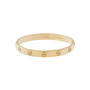 Cartier Love Bracelet Yellow Gold Old Screw size 16 with screwdriver and Papers