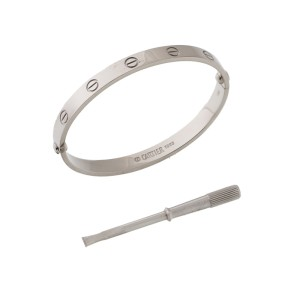 Cartier Love White Gold Bracelet 17