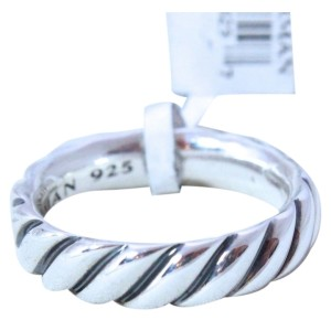 David Yurman Sterling Silver 6 MM Cable Band Ring