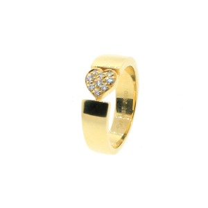 Piaget 18K YG Diamond Small Heart Ring