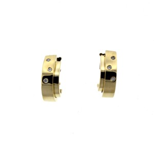 Piaget 18K YG Diamond Earrings