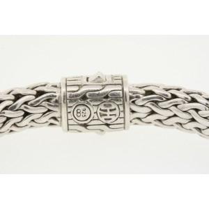 John Hardy 925 Sterling Silver Black Sapphire Woven Wheat Bracelet