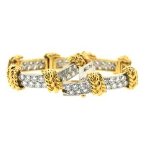 Tiffany & Co Platinum and yellow gold diamond bracelet