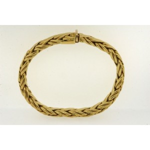 Tiffany & Co. 18K Yellow Gold Russian Weave Braid Woven Bracelet