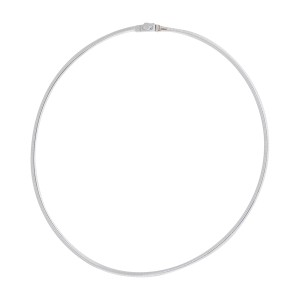 14K White & Yellow Gold Reversible Omega Choker Necklace