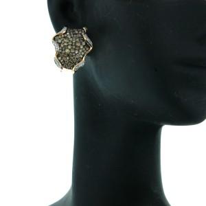 14K Rose Gold and Diamond Whimsical Earrings